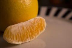 Plaksinaasappel en sinaasappel Stock Foto's