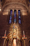 plam kościelni szklani okno fotografia royalty free