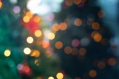 Plama choinka z oświetleniem fotografia stock