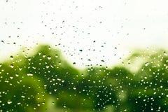 Plama deszczu kropla na okno Obraz Royalty Free