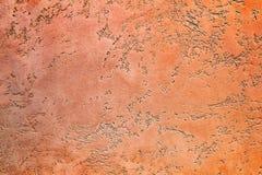 Plama farby pomarańczowej czerwieni Weneckiego jaskrawego brązu tekstury pastelowy abstrakcjonistyczny tło Obrazy Royalty Free