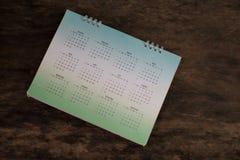 Plama kalendarz na drewnie Zdjęcia Stock