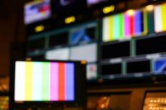 Plama Switcher zapina w pracownianym stacja telewizyjna audio P i wideo fotografia royalty free