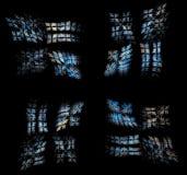 Plama Szklany Windows & x28; w cyfrowym world& x29; Obrazy Stock