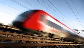 plama szybkiego ruchu pociągu Zdjęcia Royalty Free