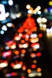 Plama trffic i samochód zaświecamy bokeh Fotografia Royalty Free