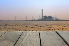 Plama wizerunek tarasowy drewno i węglowa elektrownia Obraz Stock