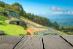 Plama wizerunek tarasowy drewno i wojskowego bunkier Zdjęcie Royalty Free