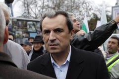 Plamen Oresharski Prime-Minister von Republik Bulgarien stockfotos