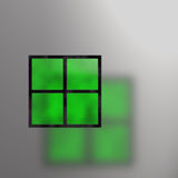 plamiąca szkło abstrakcjonistyczna zieleń royalty ilustracja