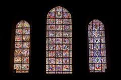 plamiący Chartres katedralny szkło zdjęcia stock