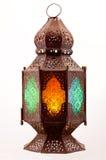 plamiący barwiony szklany lampion Obraz Stock