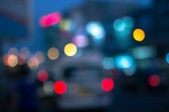 Plamy światło na road-5 Zdjęcie Royalty Free