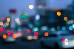 Plamy światło na road-4 Obrazy Royalty Free