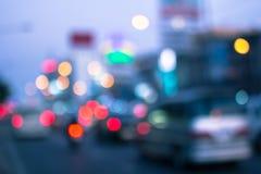 Plamy światło na road-2 Fotografia Royalty Free