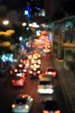 Plamy światło ruchu drogowego samochód Obraz Royalty Free