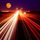 plamy świateł ruchu ruch drogowy fotografia royalty free