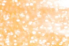 Plamy żółtego bokeh oświetleniowy tło Fotografia Stock