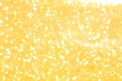 Plamy żółtego bokeh oświetleniowy tło Fotografia Royalty Free