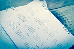 Plamy błękita kalendarz Zdjęcie Royalty Free