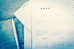 Plamy błękita kalendarz Zdjęcia Royalty Free