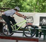 plamy bmx jeździec Fotografia Royalty Free