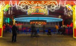 plamy carousel noc wir zdjęcie royalty free
