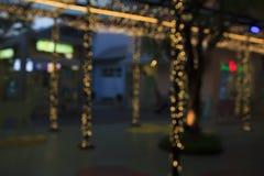 Plamy droga przemian w parku z bokeh światłem Obraz Royalty Free