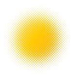 plamy halftone kolor żółty Zdjęcia Royalty Free