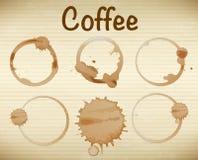 plamy kawy royalty ilustracja