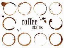 plamy kawy Odosobniona wektorowa ilustracja Zdjęcia Royalty Free