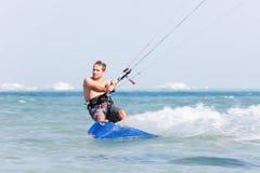 plamy kiteboarder ruch Zdjęcia Stock