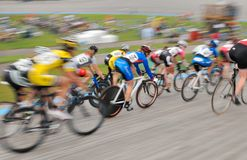 plamy kolarstwa ruchu s velodrome kobiety Obrazy Royalty Free