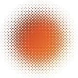 plamy koloru skutka halftone pomarańczowa czerwień Fotografia Stock