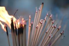 Plamy palenia świeczka dla backgroud i kadzidło zdjęcie stock