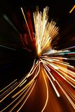 plamy samochodowi skutka światła motion zoom Zdjęcie Royalty Free