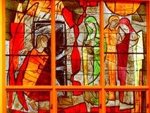 Plamy szklany okno zdjęcia royalty free