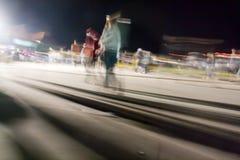 plamy tłumu ruchu chodzenie Zdjęcie Royalty Free
