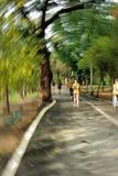 plamy zdrowy ruchu biegacza szkolenie obraz stock