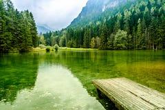 PlanÅ ¡ ar jezioro w Jezersko, Slovenia Zdjęcie Stock