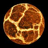 Planète éclatante Photo libre de droits
