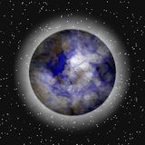 Planète éloignée en atmosphère illustration stock