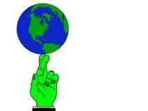 planète équilibrée de la terre Image stock