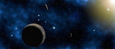 Planète, étoile et galaxie, fond de l'espace photo stock