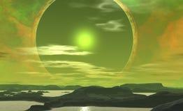 Planète étrangère illustration de vecteur