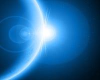 Planète étrangère bleue illustration stock