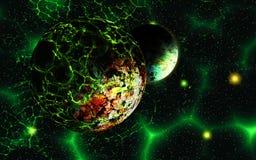 Planète étrangère dans l'espace illustration libre de droits