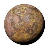 Planète étrangère de désert, exoplanet rocheux d'isolement sur l'illustration blanche de l'espace du fond 3d illustration stock