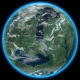 Planète étrangère Terraformed Images stock