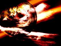 Planète étrange dans les lumières Photographie stock libre de droits